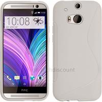 Housse etui coque pochette silicone gel pour HTC One 2 M8 (2014) + film ecran - BLANC