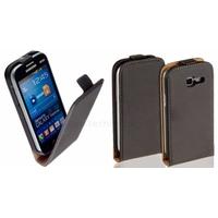 Housse etui coque PU cuir fine pour Samsung Galaxy Trend Lite s7390 + film ecran - NOIR