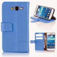 Housse etui coque portefeuille pour Samsung G3815 Galaxy Express 2 + film ecran - BLEU
