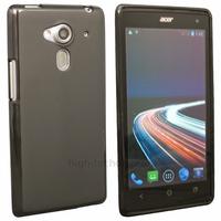 Housse etui coque silicone gel fine pour Acer Liquid Z5 Duo + film ecran - NOIR