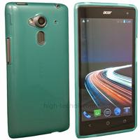 Housse etui coque silicone gel fine pour Acer Liquid Z5 Duo + film ecran - BLEU