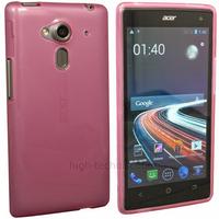 Housse etui coque silicone gel fine pour Acer Liquid Z5 Duo + film ecran - ROSE