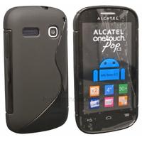 Housse etui coque silicone gel fine pour Alcatel One Touch Pop C3 4033D + film ecran - NOIR