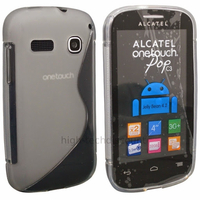 Housse etui coque silicone gel fine pour Alcatel One Touch Pop C2 4032 + film ecran - TRANSPARENT