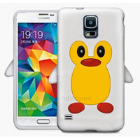 Housse etui coque silicone gel pour Samsung i9600 Galaxy S5 New + film ecran - BLANC PINGOUIN
