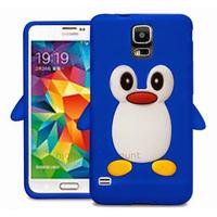 Housse etui coque silicone gel pour Samsung i9600 Galaxy S5 New + film ecran - BLEU D PINGOUIN