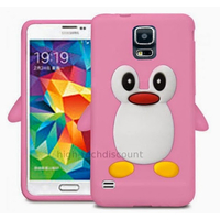 Housse etui coque silicone gel pour Samsung i9600 Galaxy S5 New + film ecran - ROSE L PINGOUIN