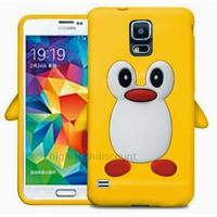 Housse etui coque silicone gel pour Samsung i9600 Galaxy S5 New + film ecran - JAUNE PINGOUIN