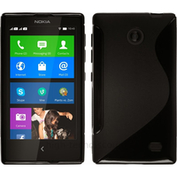 Housse etui coque pochette silicone gel fine pour Nokia X / X+ + film ecran - NOIR