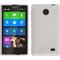 Housse etui coque pochette silicone gel fine pour Nokia X / X+ + film ecran - BLANC