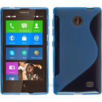 Housse etui coque pochette silicone gel fine pour Nokia X / X+ + film ecran - BLEU