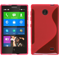 Housse etui coque pochette silicone gel fine pour Nokia X / X+ + film ecran - ROSE