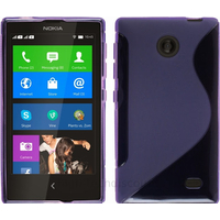 Housse etui coque pochette silicone gel fine pour Nokia X / X+ + film ecran - MAUVE