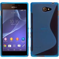 Housse etui coque pochette silicone gel fine pour Sony Xperia M2 + film ecran - BLEU