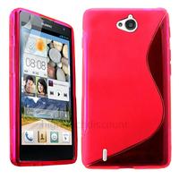 Housse etui coque pochette silicone gel fine pour Huawei Ascend G740 + film ecran - ROSE