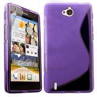 Housse etui coque pochette silicone gel fine pour Huawei Ascend G740 + film ecran - MAUVE