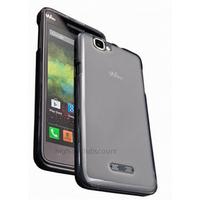 Housse etui coque pochette silicone gel fine pour Wiko Rainbow + film ecran - BLANC TRANSPARENT