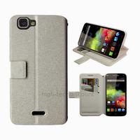 Housse etui coque pochette portefeuille pour Wiko Rainbow 4G + film ecran - BLANC