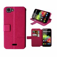 Housse etui coque pochette portefeuille pour Wiko Rainbow 4G + film ecran - ROSE