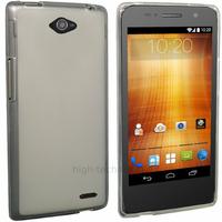 Housse etui coque pochette silicone gel fine pour Orange Hi 4G - BLANC TRANSPARENT