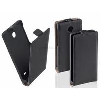 Housse etui coque pochette PU cuir fine pour Nokia X + film ecran - NOIR