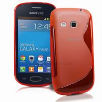 Housse etui coque silicone gel fine pour Samsung s6790 Galaxy Fame Lite + film ecran - ROUGE