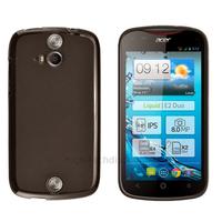 Housse etui coque pochette silicone gel fine pour Acer Liquid E2 Duo + film ecran - NOIR