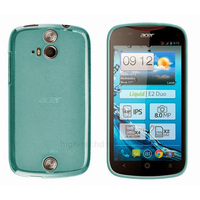 Housse etui coque pochette silicone gel fine pour Acer Liquid E2 Duo + film ecran - BLEU