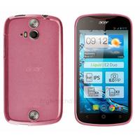 Housse etui coque pochette silicone gel fine pour Acer Liquid E2 Duo + film ecran - ROSE