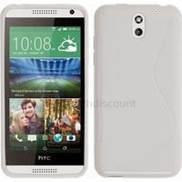 Housse etui coque silicone pochette gel fine pour HTC Desire 610 + film ecran - BLANC