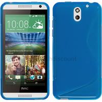 Housse etui coque silicone pochette gel fine pour HTC Desire 610 + film ecran - BLEU
