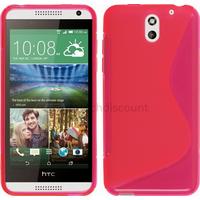 Housse etui coque silicone pochette gel fine pour HTC Desire 610 + film ecran - ROSE