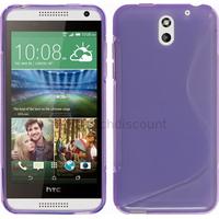 Housse etui coque silicone pochette gel fine pour HTC Desire 610 + film ecran - MAUVE