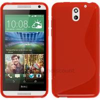 Housse etui coque silicone pochette gel fine pour HTC Desire 610 + film ecran - ROUGE