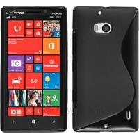 Housse etui coque silicone pochette gel fine pour Nokia Lumia 930 + film ecran - NOIR