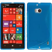 Housse etui coque silicone pochette gel fine pour Nokia Lumia 930 + film ecran - BLEU