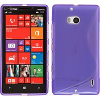 Housse etui coque silicone pochette gel fine pour Nokia Lumia 930 + film ecran - MAUVE