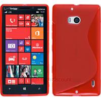 Housse etui coque silicone pochette gel fine pour Nokia Lumia 930 + film ecran - ROUGE