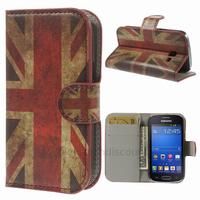 Housse etui coque portefeuille PU cuir pour Samsung s7390 Galaxy Trend Lite + film ecran - UK