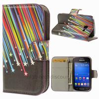 Housse etui coque portefeuille PU cuir pour Samsung s7390 Galaxy Trend Lite + film ecran - ETOILES