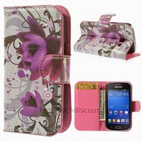 Housse etui coque portefeuille PU cuir pour Samsung s7390 Galaxy Trend Lite + film ecran - LOTUS