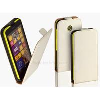 Housse etui coque pochette PU cuir fine pour Nokia Lumia 630 635 + film ecran - BLANC