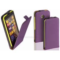 Housse etui coque pochette PU cuir fine pour Nokia Lumia 630 635 + film ecran - MAUVE