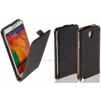 Housse etui coque pochette PU cuir pour Samsung N7505 Galaxy Note 3 Neo Lite + film ecran - NOIR