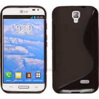 Housse etui coque pochette silicone gel pour LG F70 + film ecran - NOIR