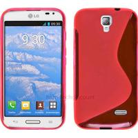 Housse etui coque pochette silicone gel pour LG F70 + film ecran - ROSE