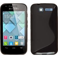 Housse etui coque silicone gel pour Alcatel One Touch Pop C1 4016D + film ecran - NOIR