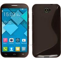 Housse etui coque silicone gel pour Alcatel One Touch Pop C7 7041D + film ecran - NOIR