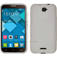 Housse etui coque silicone gel pour Alcatel One Touch Pop C7 7041D + film ecran - BLANC