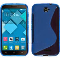 Housse etui coque silicone gel pour Alcatel One Touch Pop C7 7041D + film ecran - BLEU